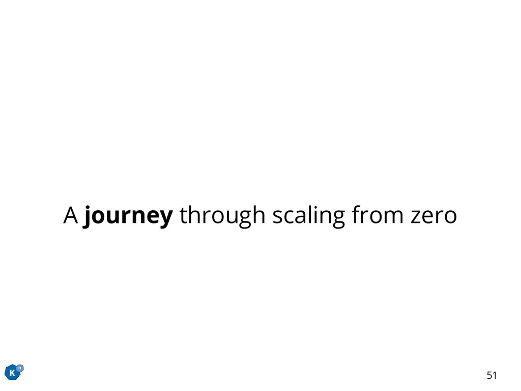 A journey through scaling from zero 51