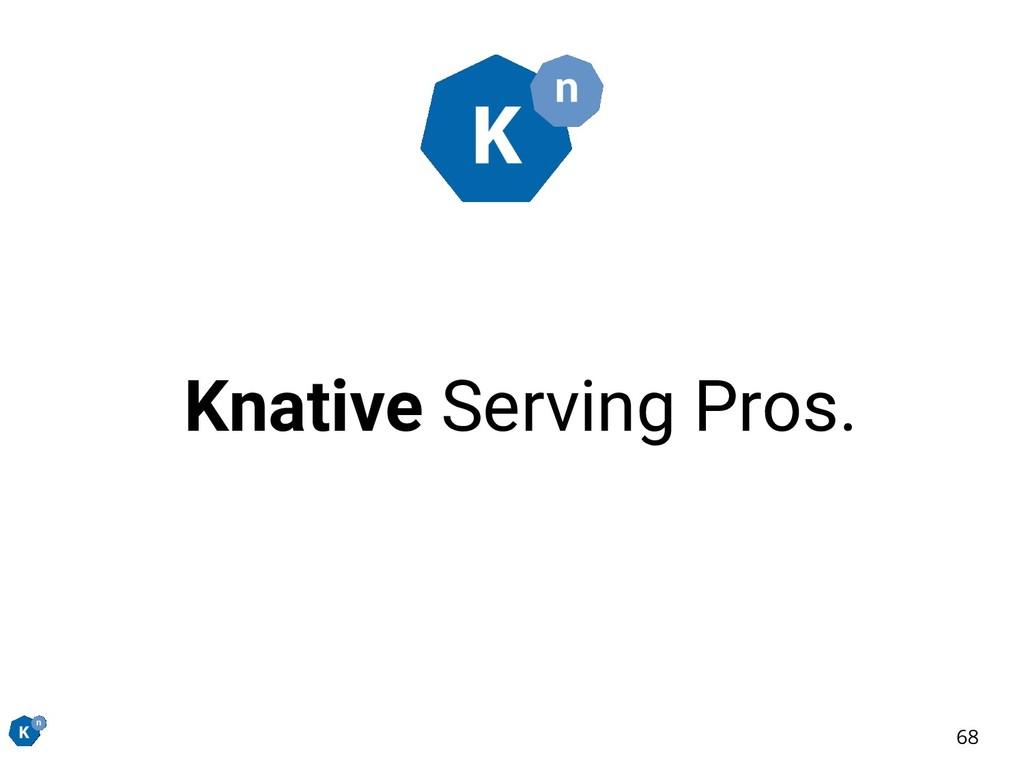 Knative Serving Pros. 68