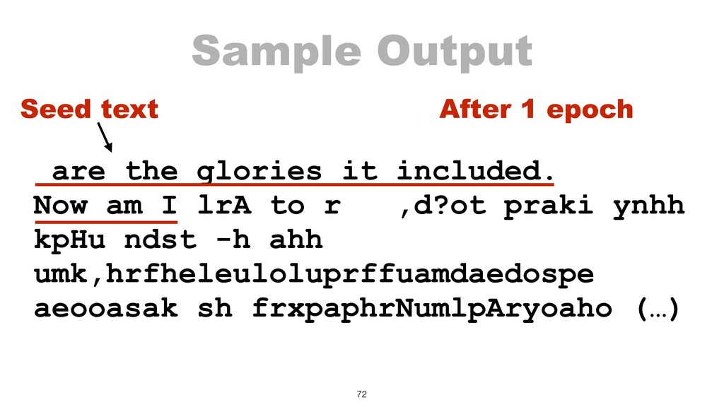 Sample Output are the glories it included. Now ...