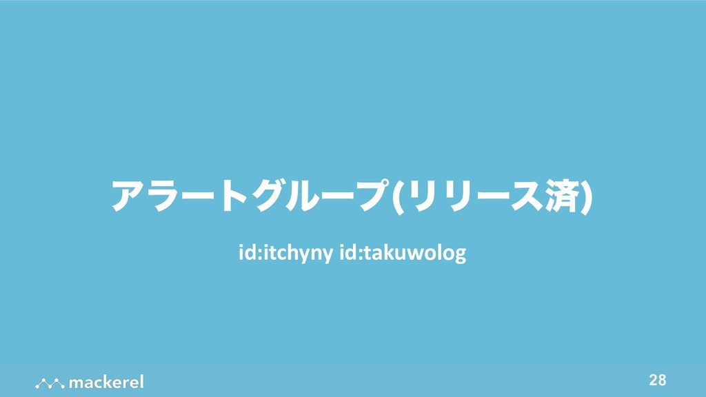 !28 Ξϥʔτάϧʔϓ ϦϦʔεࡁ  id:itchyny id:takuwolog