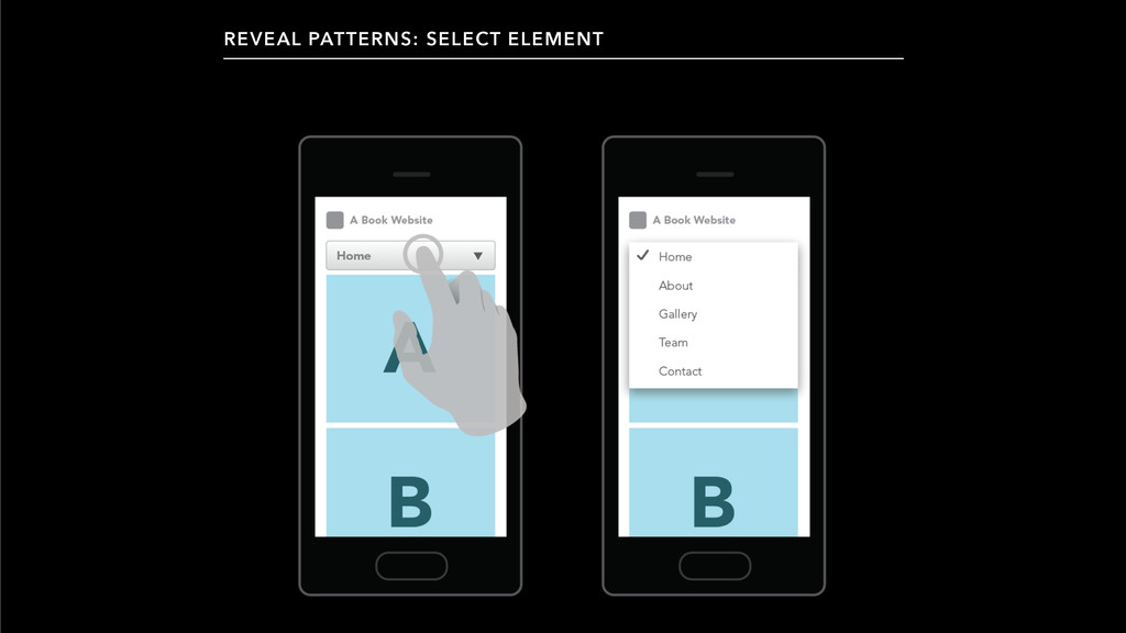 REVEAL PATTERNS: SELECT ELEMENT