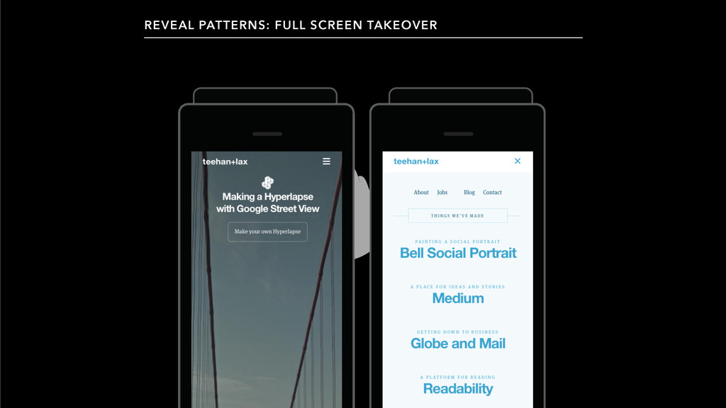 REVEAL PATTERNS: FULL SCREEN TAKEOVER