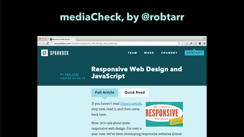 mediaCheck, by @robtarr
