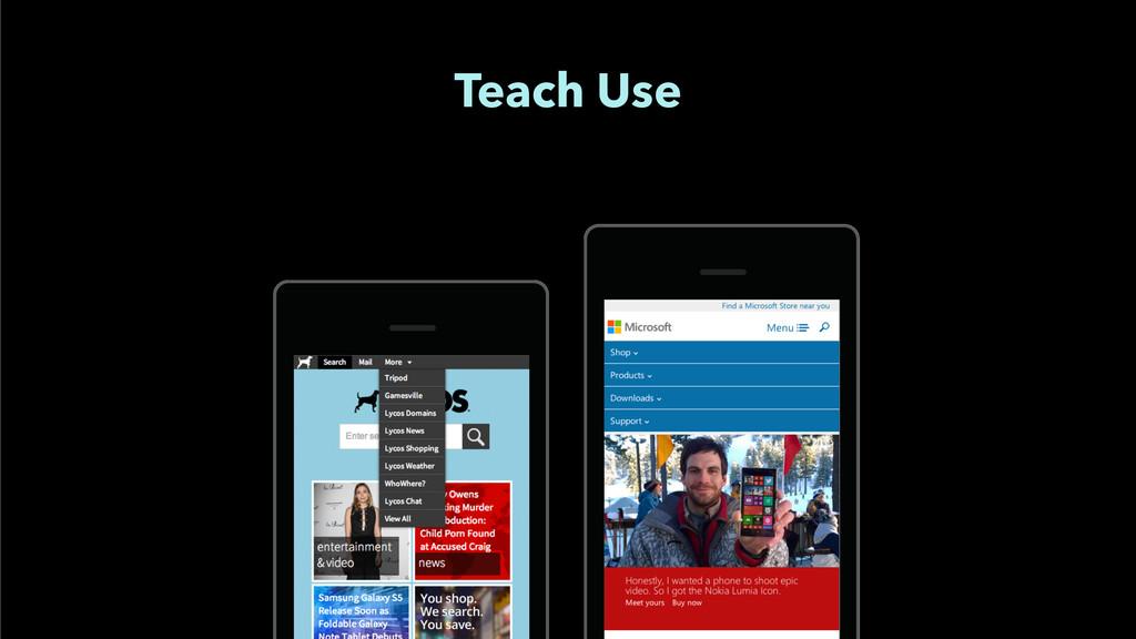 Teach Use