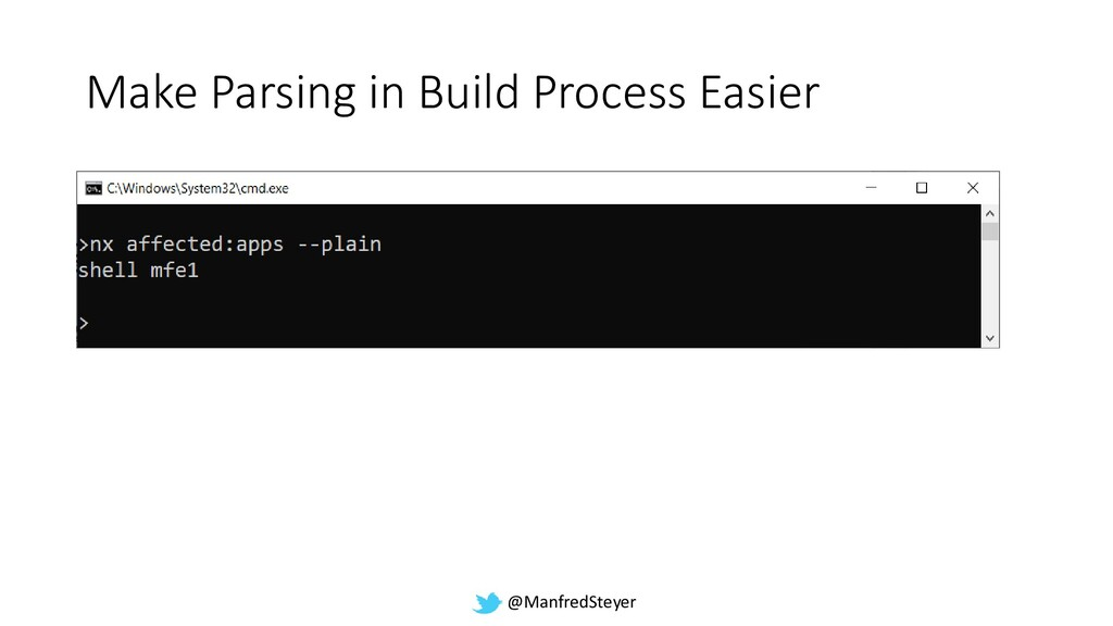 @ManfredSteyer Make Parsing in Build Process Ea...