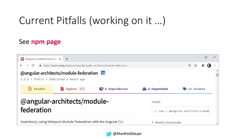 @ManfredSteyer Current Pitfalls (working on it ...