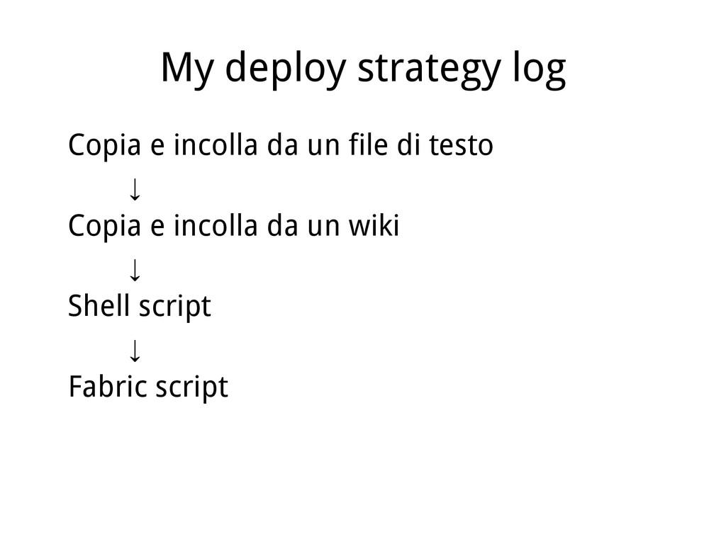 My deploy strategy log Copia e incolla da un fi...