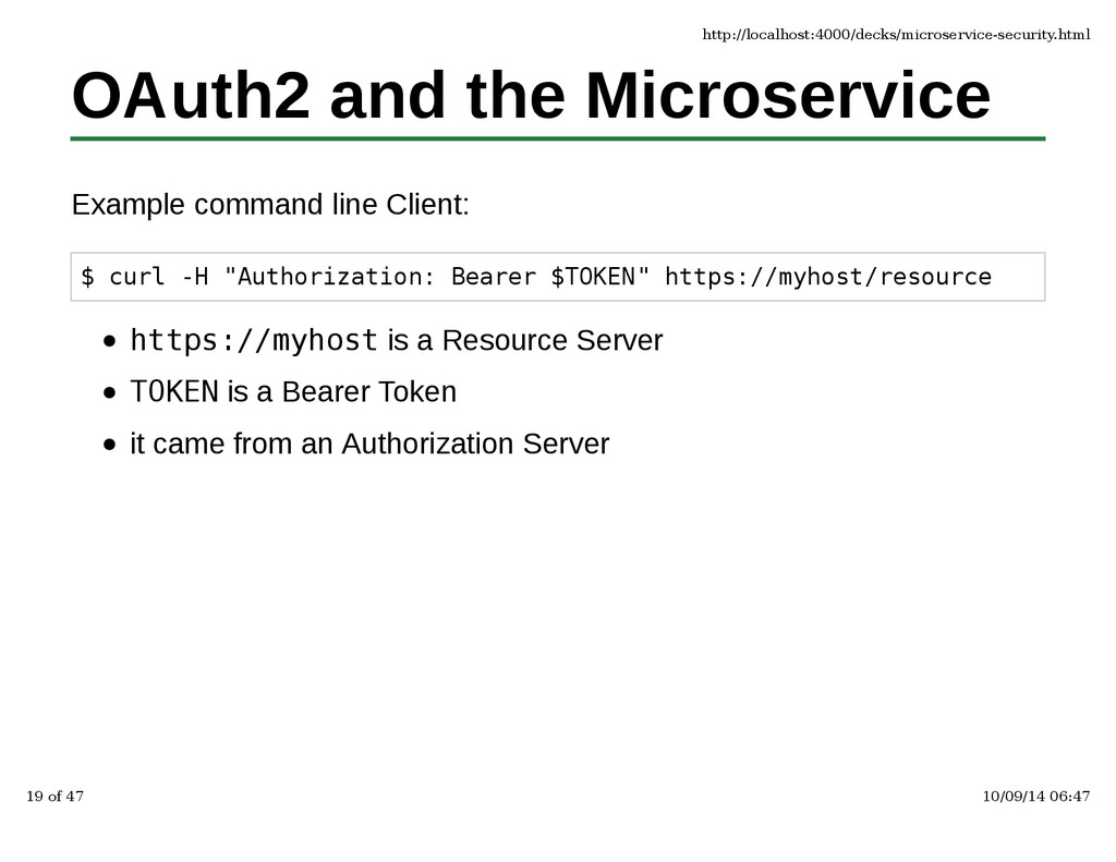 OAuth2 and the Microservice Example command lin...