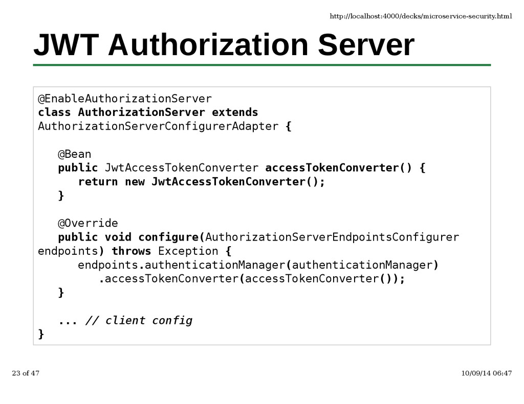 JWT Authorization Server @EnableAuthorizationSe...