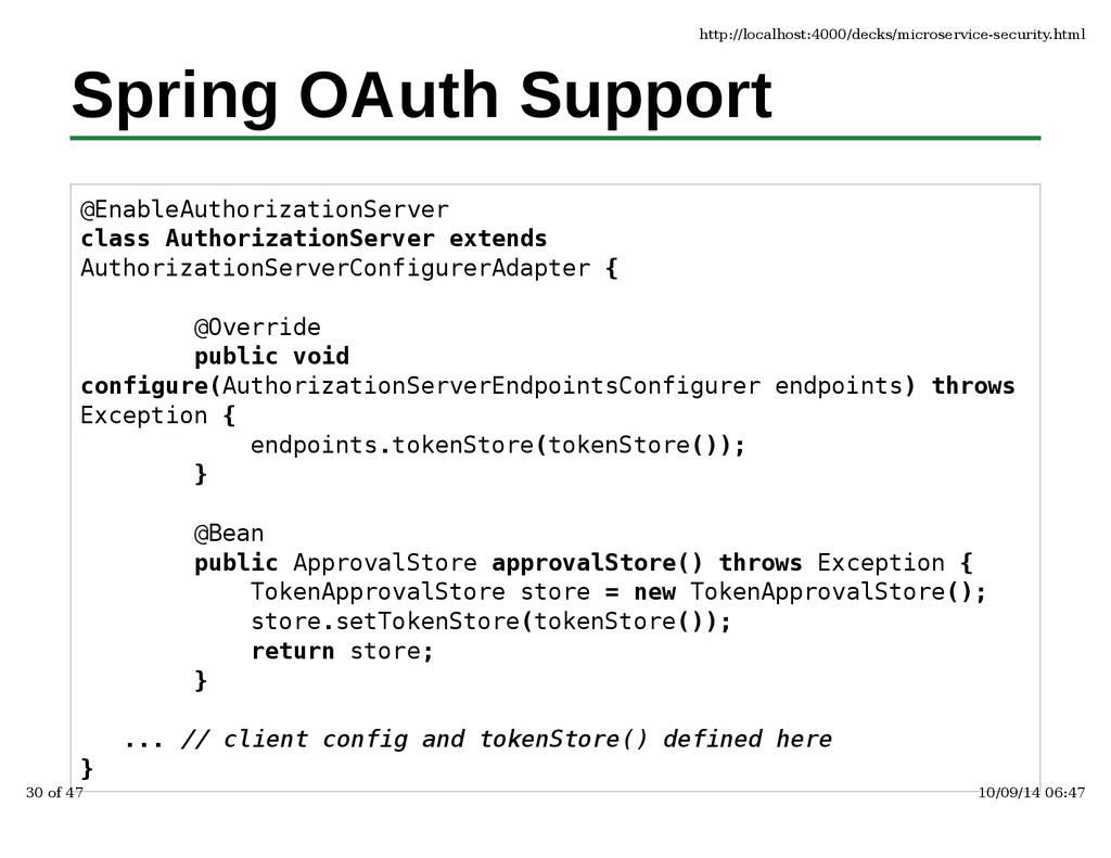 Spring OAuth Support @EnableAuthorizationServer...