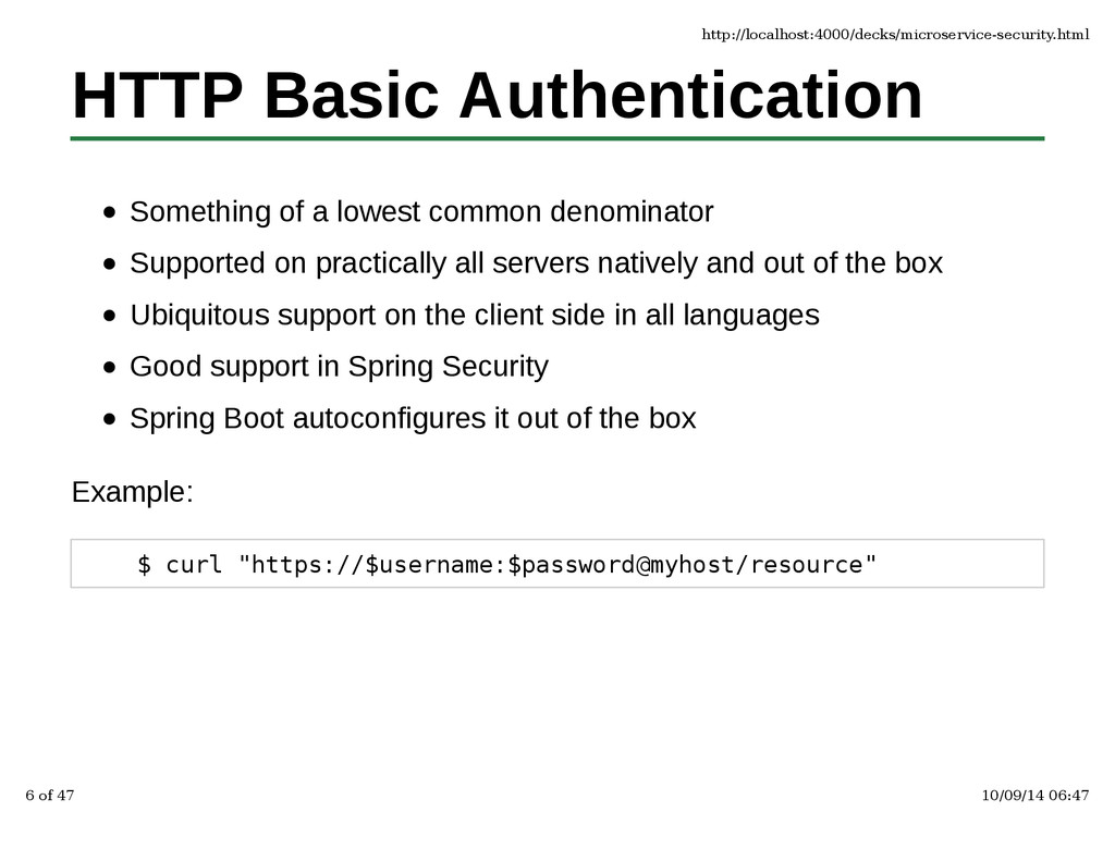 HTTP Basic Authentication Something of a lowest...