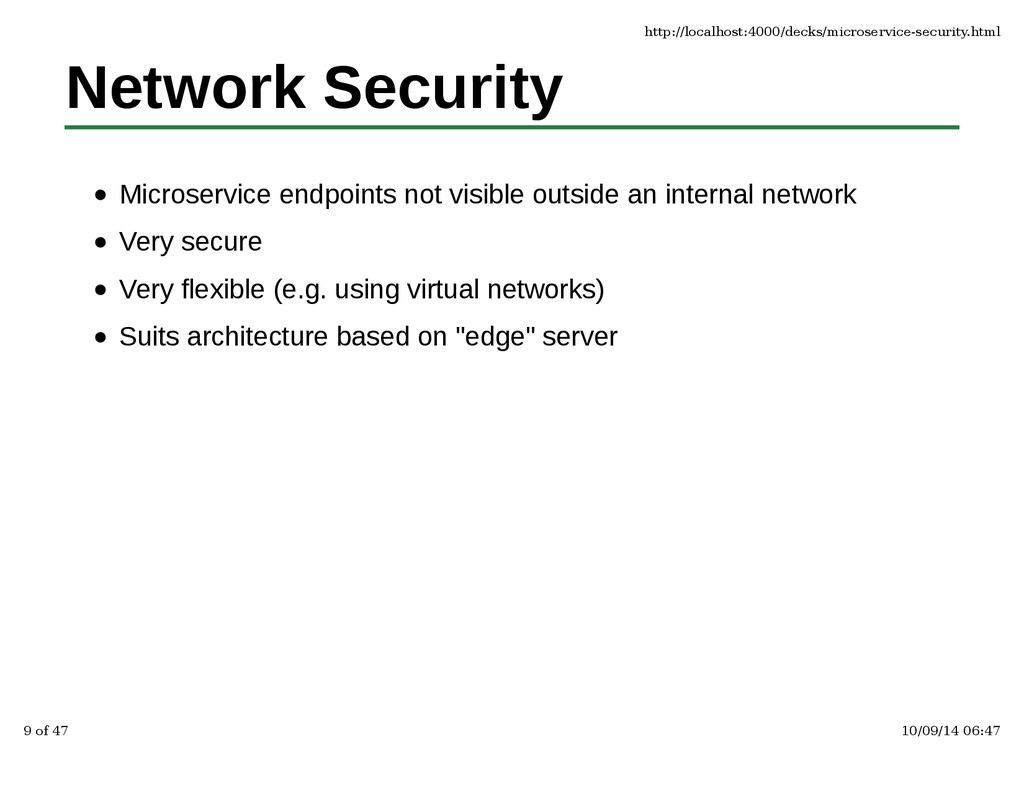 Network Security Microservice endpoints not vis...