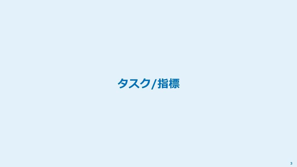 タスク/指標 3