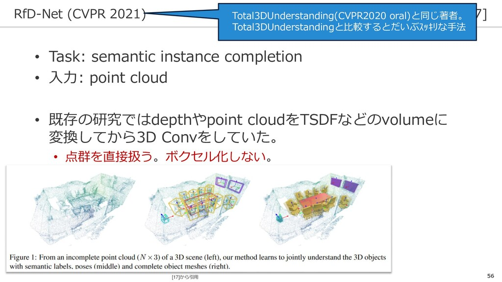 RfD-Net (CVPR 2021) [17] 56 • Task: semantic in...