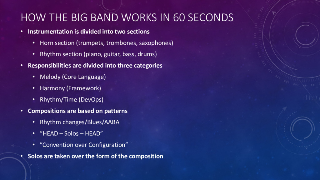 HOW THE BIG BAND WORKS IN 60 SECONDS • Instrume...