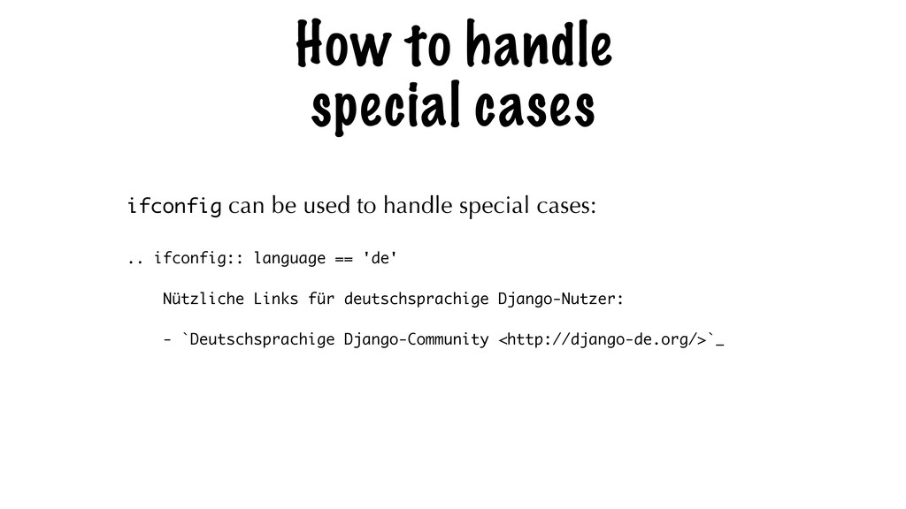 How to handle special cases ifconfig can be use...