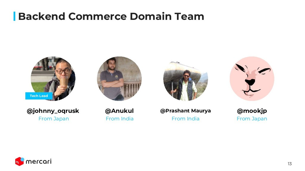 13 Backend Commerce Domain Team @johnny_oqrusk ...
