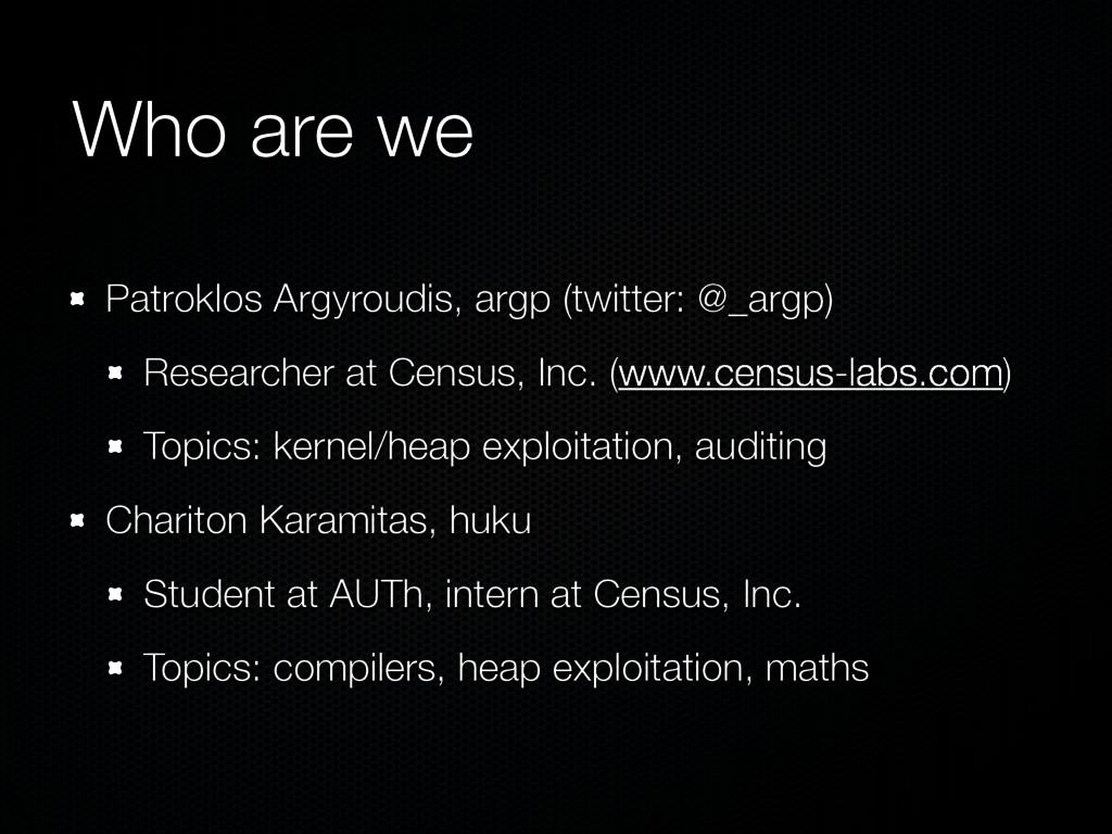 Who are we Patroklos Argyroudis, argp (twitter:...