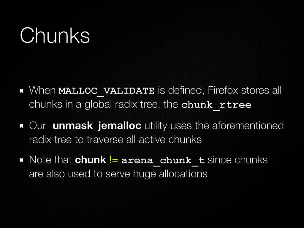 Chunks When MALLOC_VALIDATE is defined, Firefox ...