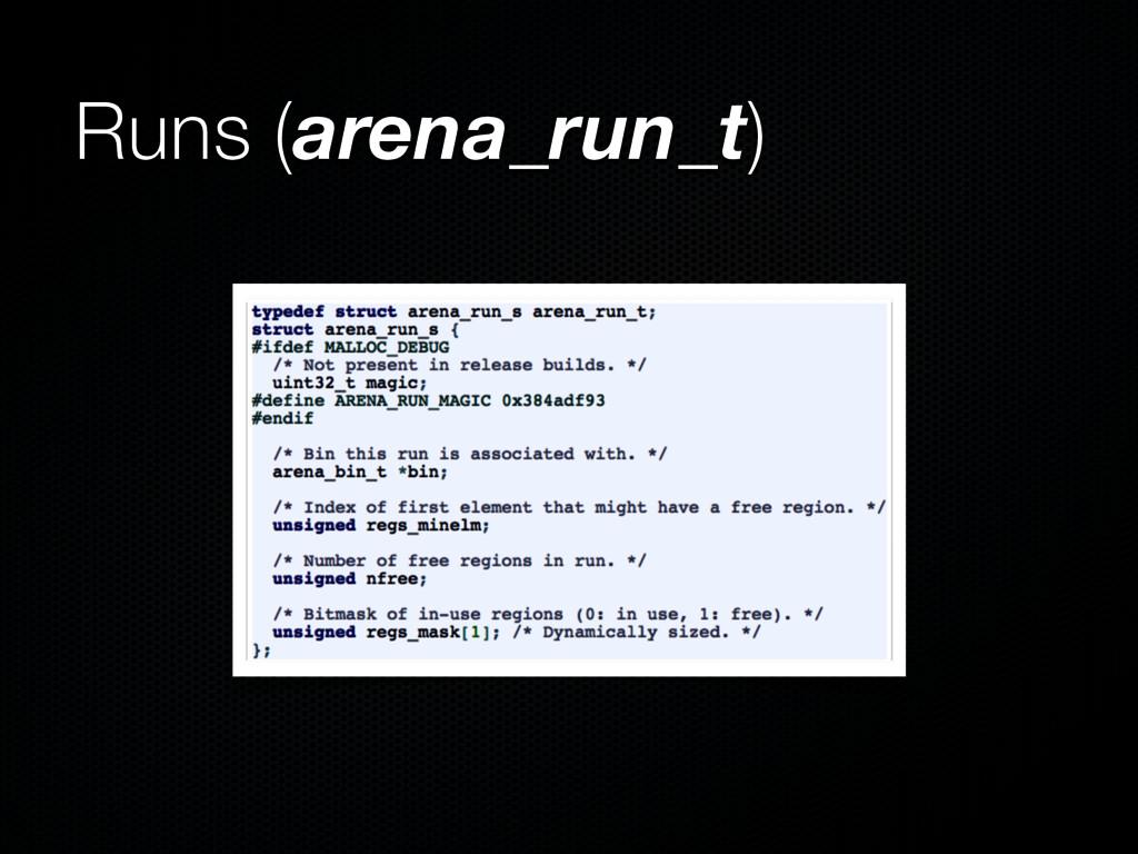 Runs (arena_run_t)