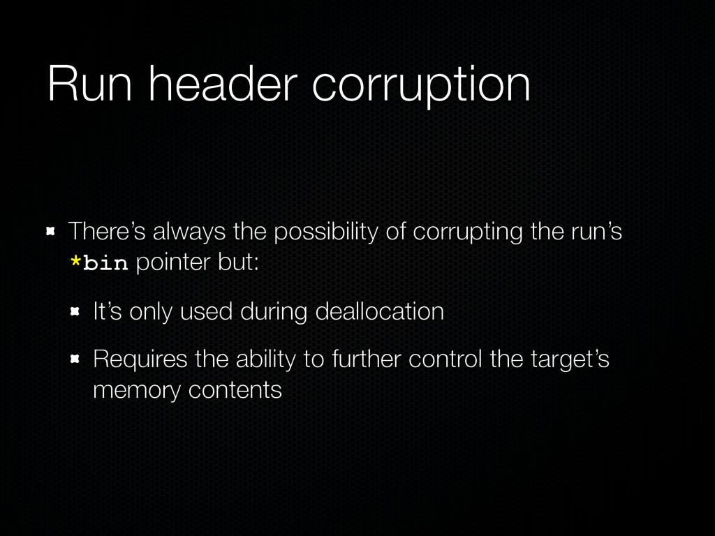 Run header corruption There's always the possib...