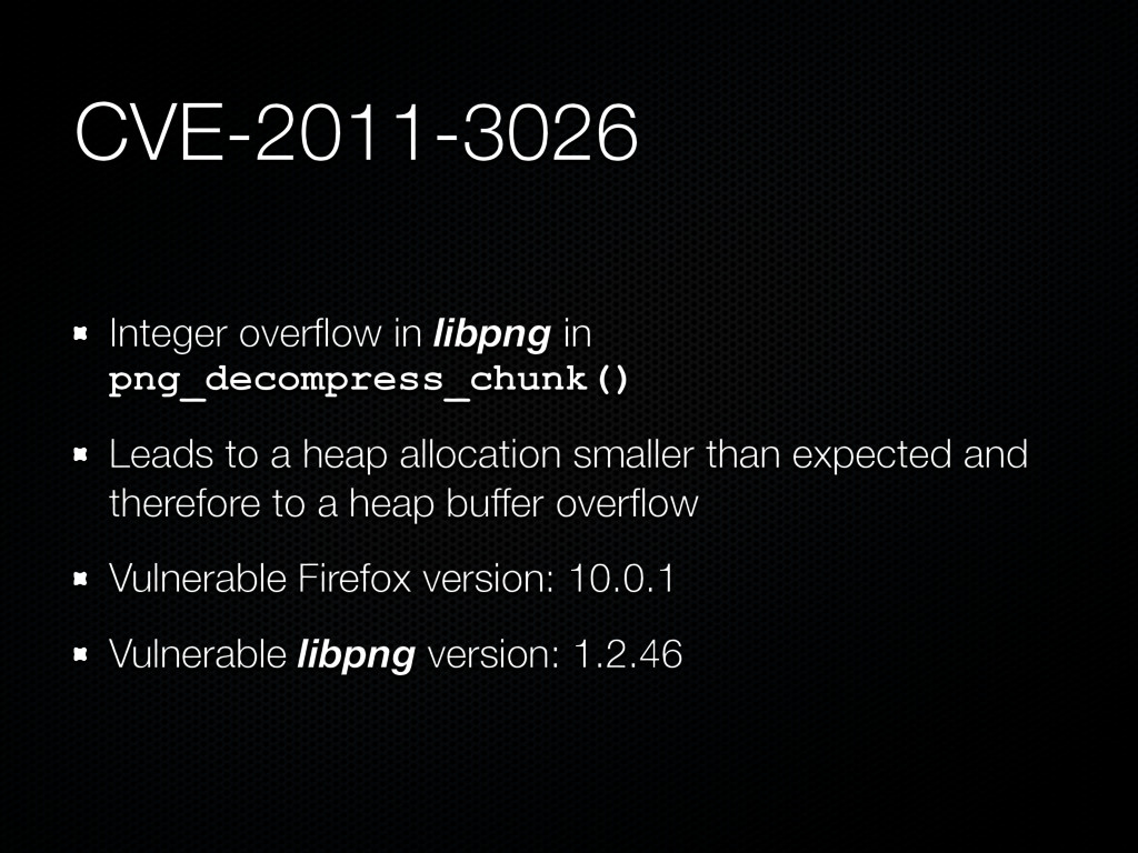CVE-2011-3026 Integer overflow in libpng in png_...