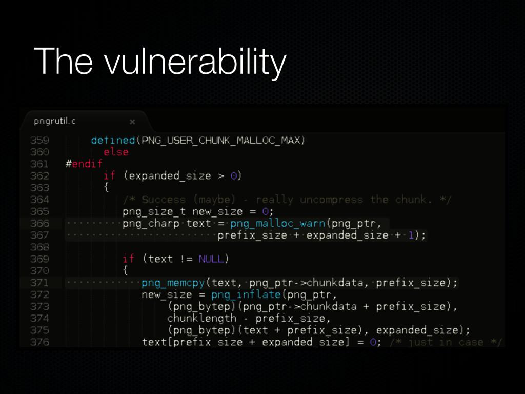 The vulnerability