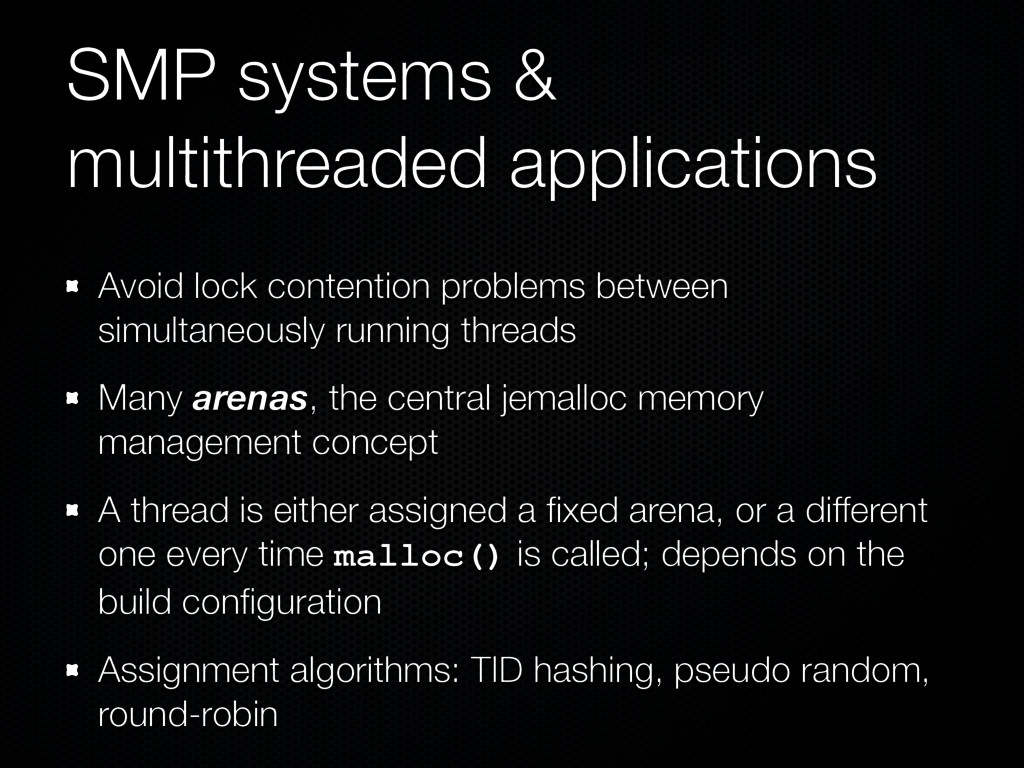 SMP systems & multithreaded applications Avoid ...
