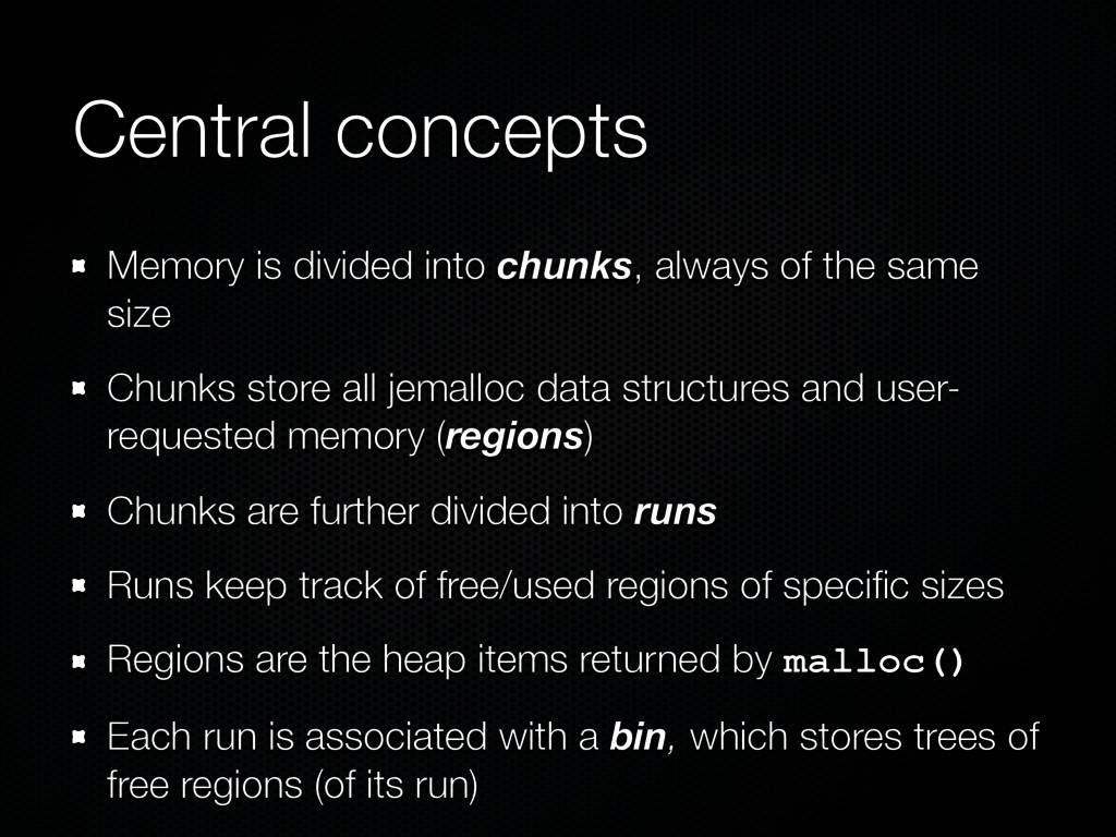 Central concepts Memory is divided into chunks,...