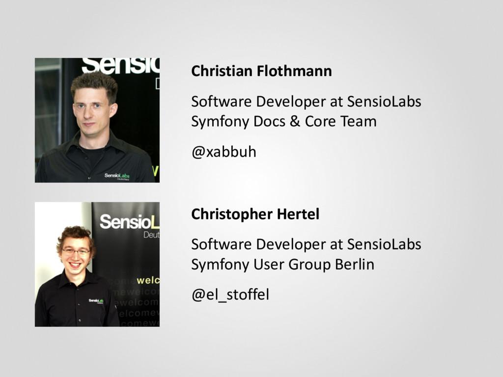 Christopher Hertel Software Developer at Sensio...