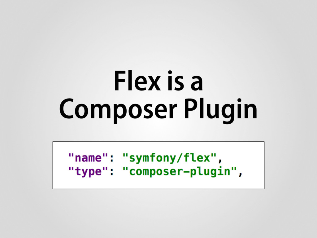 Flex is a Composer Plugin