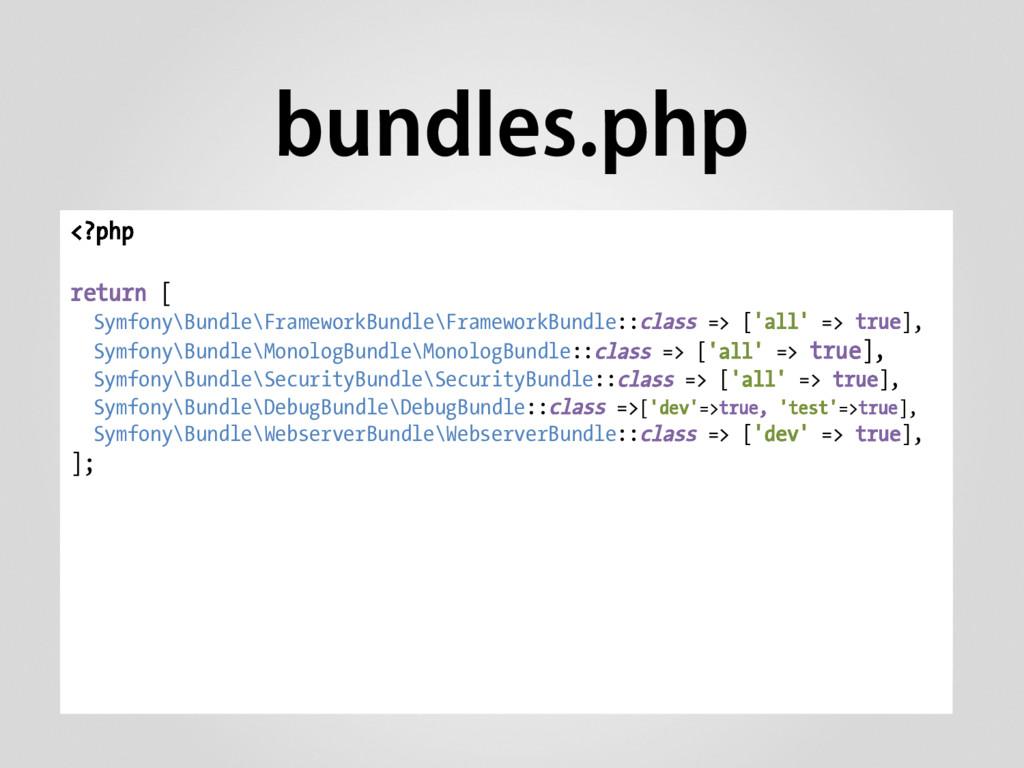bundles.php <?php return [ Symfony\Bundle\Frame...