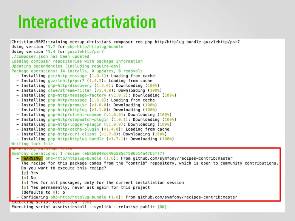 Interactive activation