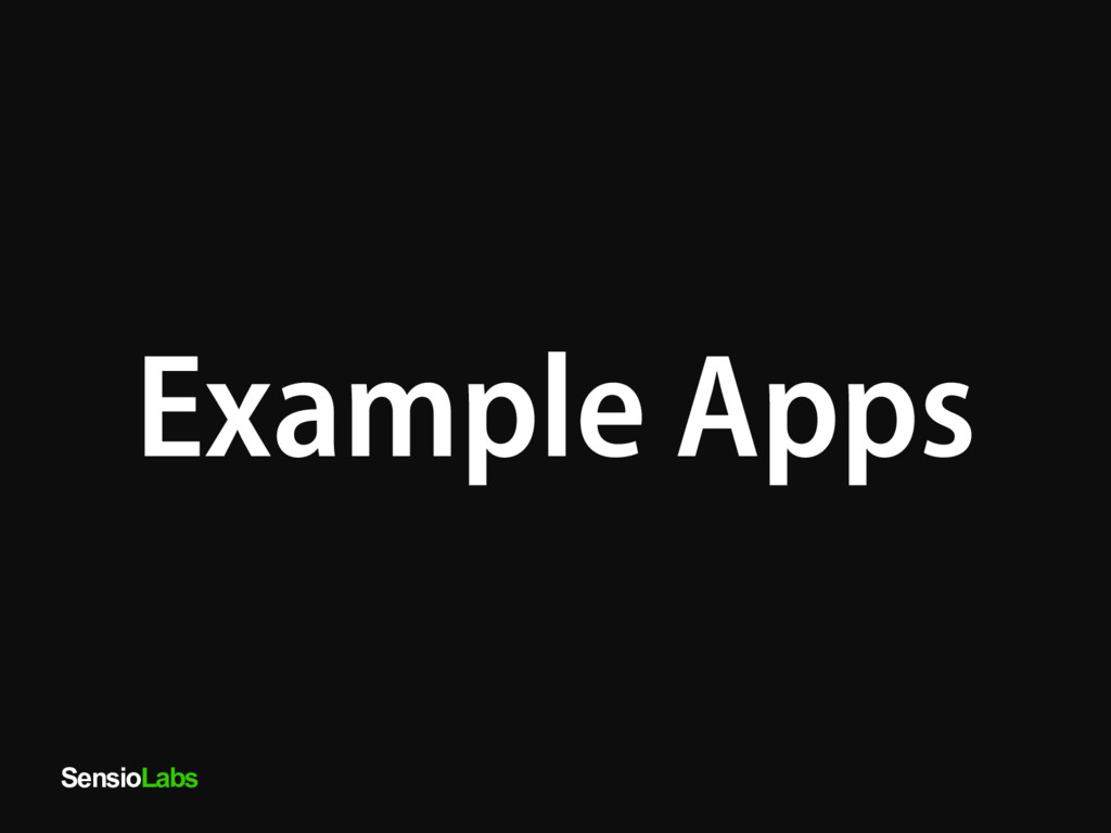 SensioLabs Example Apps