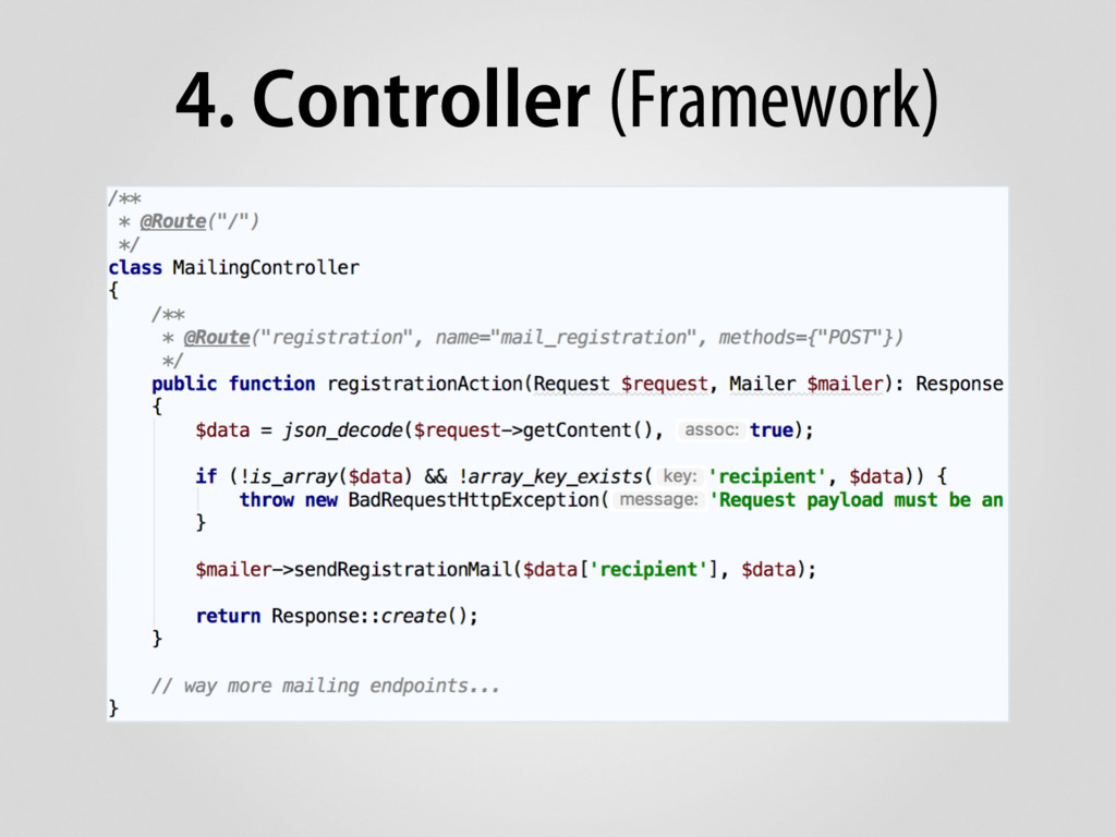 4. Controller (Framework)