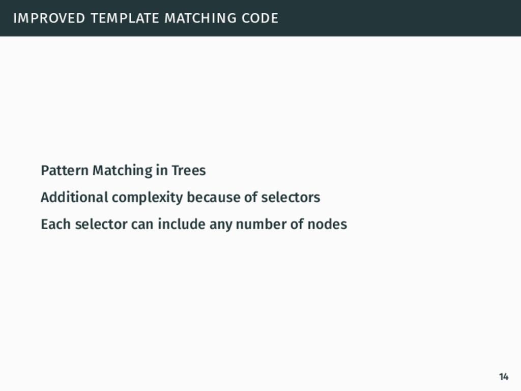 improved template matching code Pattern Matchin...