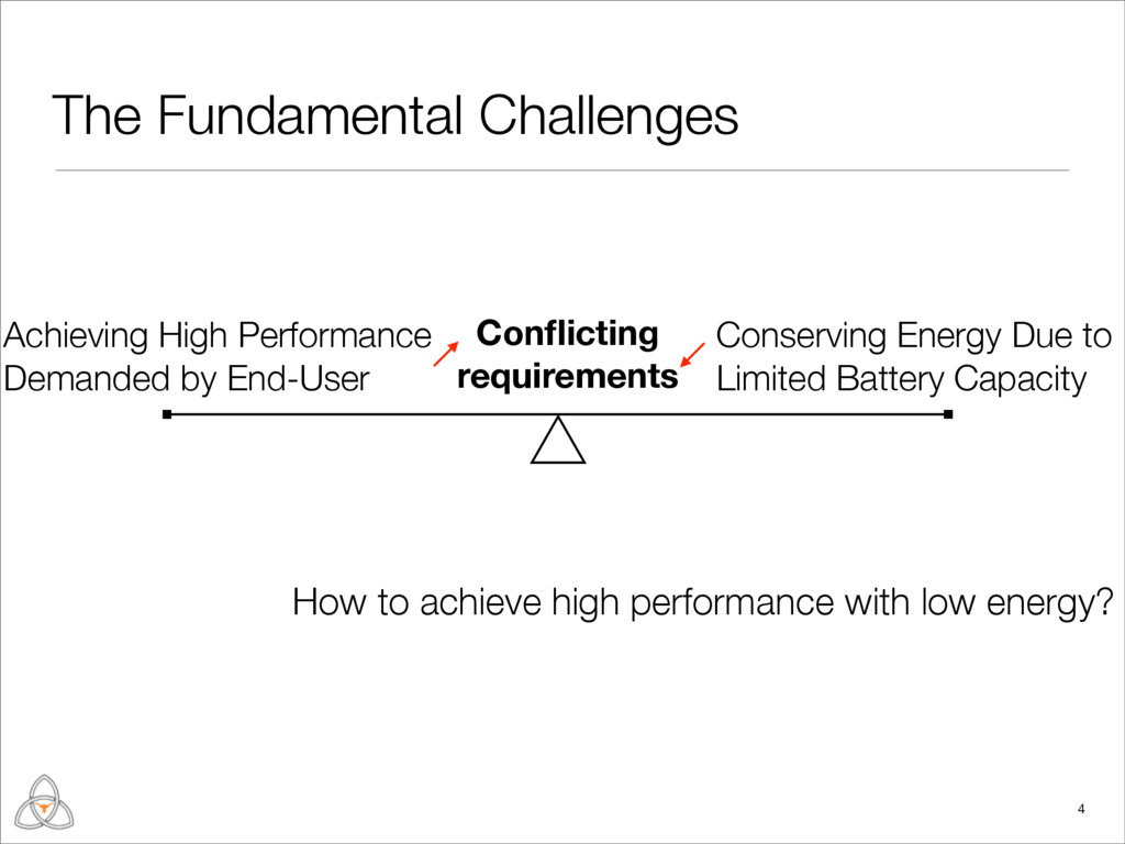 The Fundamental Challenges How to achieve high ...