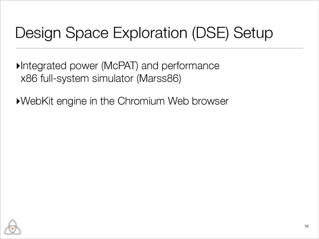 Design Space Exploration (DSE) Setup ▸Integrate...