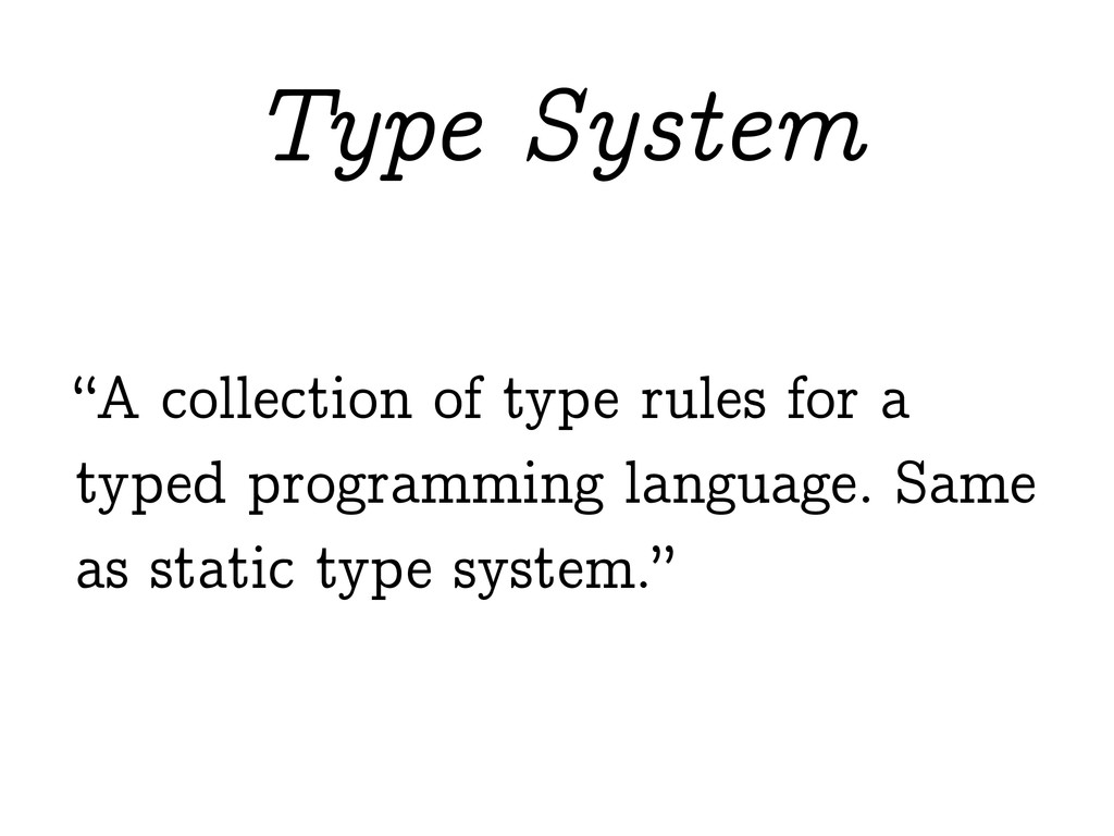 """A collection of type rules for a typed program..."