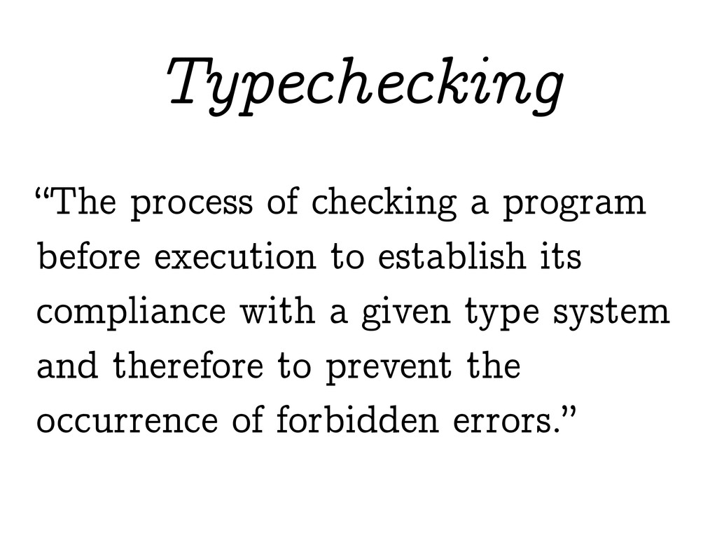 """The process of checking a program before execu..."