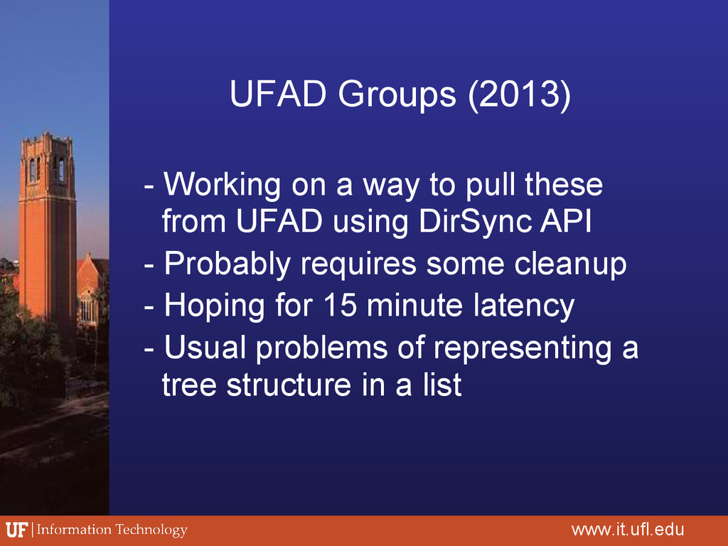 UFAD Groups (2013) - Working on a way to pull t...