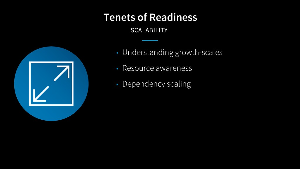 Tenets of Readiness SCALABILITY • Understanding...