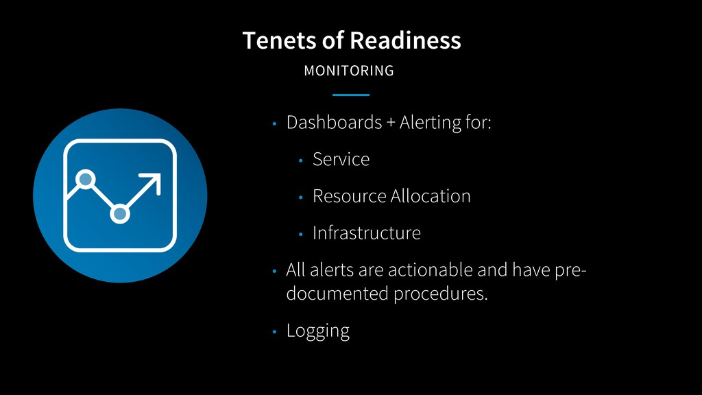 Tenets of Readiness MONITORING • Dashboards + A...