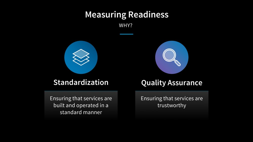 Measuring Readiness WHY? Ensuring that services...