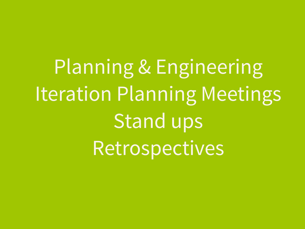 Planning & Engineering Iteration Planning Meeti...