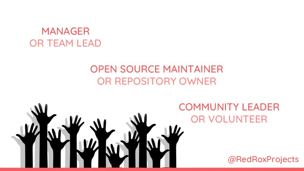 MANAGER OR TEAM LEAD OPEN SOURCE MAINTAINER OR ...