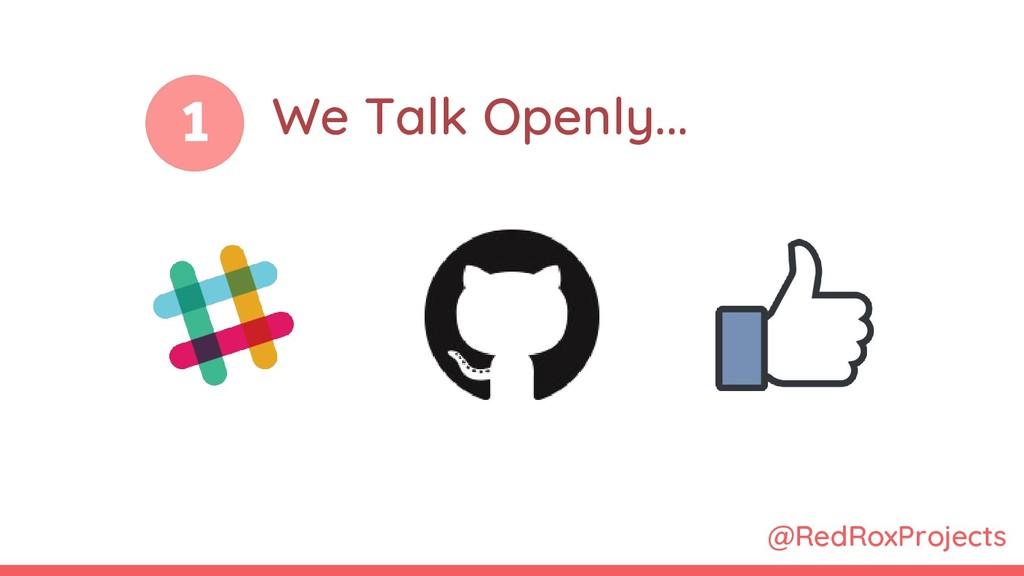 1 @RedRoxProjects We Talk Openly...