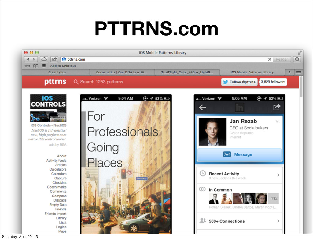 PTTRNS.com Saturday, April 20, 13