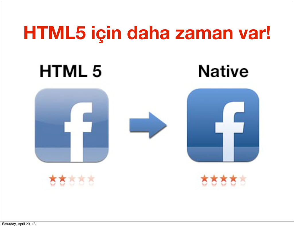 HTML5 için daha zaman var! Saturday, April 20, ...