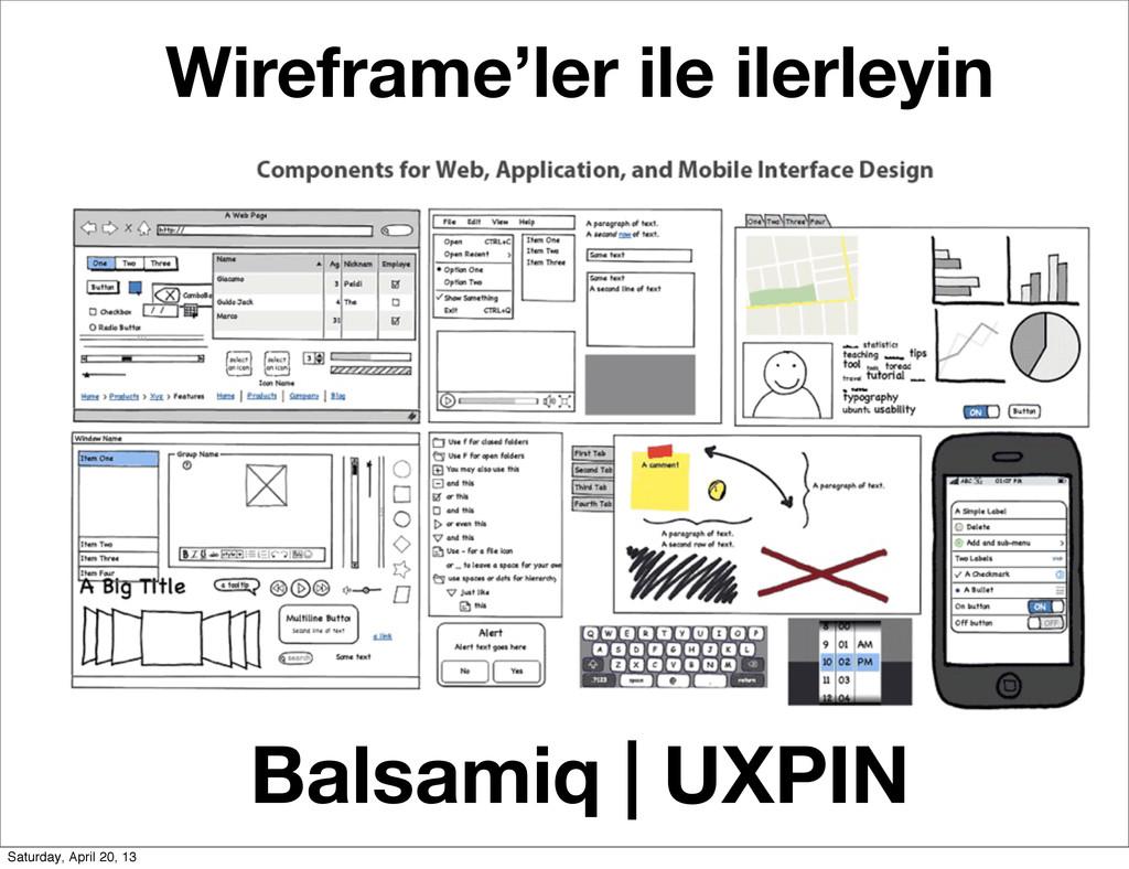 Balsamiq   UXPIN Wireframe'ler ile ilerleyin Sa...